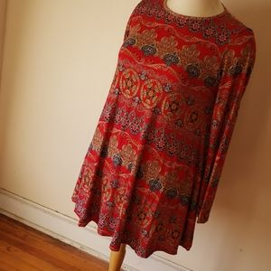 Boohoo Dress - Red/Multi